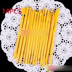 14DB-os fondan virág készítő szett, virág forma otthon élelmiszer tortadísz készítő szett