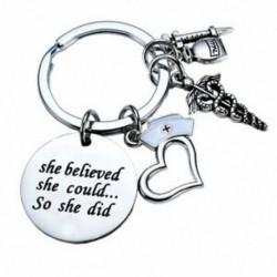Sokan azt hitte, hogy így tette a fecskendő orvos nővér sapka Charms kulcstartóját