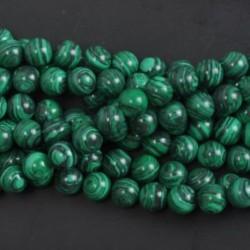 Malachite - Természetes drágakő kerek kő laza gyöngyök tétel 4mm 6mm 8mm 10mm barkács ékszerek készítése