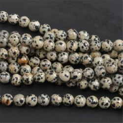 Dalmation Spot - Természetes drágakő kerek kő laza gyöngyök tétel 4mm 6mm 8mm 10mm barkács ékszerek készítése