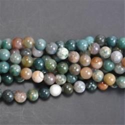 India Agate - Természetes drágakő kerek kő laza gyöngyök tétel 4mm 6mm 8mm 10mm barkács ékszerek készítése