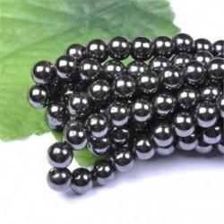Metallic Black - Természetes drágakő kerek kő laza gyöngyök tétel 4mm 6mm 8mm 10mm barkács ékszerek készítése