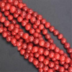 Red Turquoise - Természetes drágakő kerek kő laza gyöngyök tétel 4mm 6mm 8mm 10mm barkács ékszerek készítése