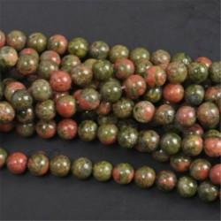 Unakite - Természetes drágakő kerek kő laza gyöngyök tétel 4mm 6mm 8mm 10mm barkács ékszerek készítése