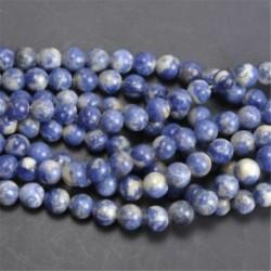 Sodalite - Természetes drágakő kerek kő laza gyöngyök tétel 4mm 6mm 8mm 10mm barkács ékszerek készítése