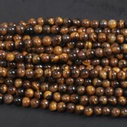 Tiger's Eye - Természetes drágakő kerek kő laza gyöngyök tétel 4mm 6mm 8mm 10mm barkács ékszerek készítése