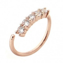 Rose Gold - Orrgyűrű fülkarika Tragus Helix porc fülbevaló kristály rozsdamentes acélból