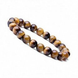 No color - Természetes 8 mm-es gyönyörű tigrisszem gyógyító kristály Stretch gyöngyös karkötő unisex