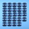 24db 1:87 HO méretarányú nyomtávú vonatmodell keréktárcsa kerék a 88 110 4J9K kerékkódhoz