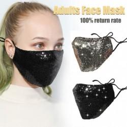Női szájmaszk pamut anti por anti haze mosható újrafelhasználható csillogó arcmaszk Paillette-tel
