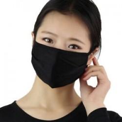 Fekete - Safe Women mosható selyem vékony arc száj MASZK lélegző ködgátló MASZK
