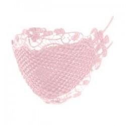 Rózsaszín - Csipkés Porálló - Légáteresztő szájmaszk