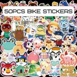 100db állatátkelő rajzfilm matrica vízálló graffiti matrica poggyász laptop vizes palackok gördeszka motorkerékpár