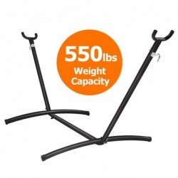 10ft függőágy állvány, hordozható függőágy állvánnyal, 550LBS kapacitás, nagy teherbírású acél függőágykeret