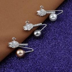 1db divat kreatív gyöngy hattyú cirkónia bross gallér tű női ruha kiegészítők ajándék
