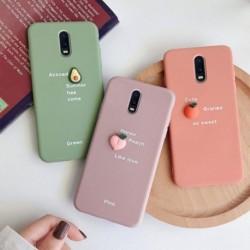 3D gyümölcs színes konzolos telefontok fedél OPPO hátlap puha tokokhoz