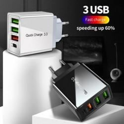 48W gyorstöltő 4.0 3.0 USB töltő Gyors töltés PD 3.0 mobiltelefon töltő iphone Samsung Xiaomi Huawei