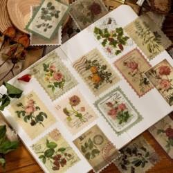 60 db / csomag Vintage yegző matrica Old Time téma matrica napló boríték dekorációhoz