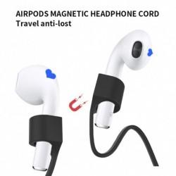 Elveszett szilikon mágneses fülhallgató kötéltartó kábel az AirPodokhoz AirPods Pro vezeték nélküli Bluetooth
