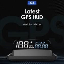 Autó Head Up Display HUD kijelző Digitális sebességű kivetítő Túllépésre figyelmeztető GPS sebességmérő