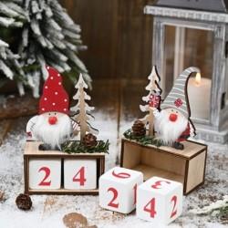 Karácsonyi naptár Boldog karácsonyi díszek otthoni Noel Xmas újévi ajándék Mikulás babák Elf Deco karácsony