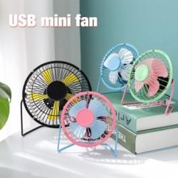 Kreatív 4 hüvelykes USB mini ventilátor nyári hordozható fém ventilátor diákok iskolai ventilátor irodai otthoni