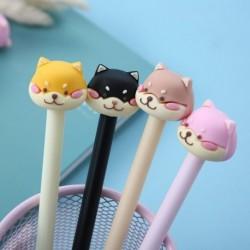Kreatív rajzfilm Shiba Inu kutyatoll 0,5 mmes Scrapbook Pen írószer ajándék iskolai irodai kellékek