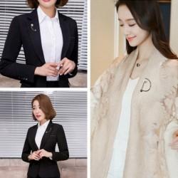 Divat egyszerű geometriai gyöngy bross ing gallér tű női ékszer kiegészítők