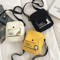 Divat női aranyos rajzfilm messenger táska női vászon táska melltáska válltáska