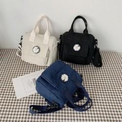 Divat női aranyos százszorszép vászon hordozható sokoldalú Messenger táska női vászon táska mellkas táska válltáska
