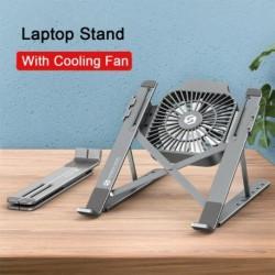 Összecsukható laptopállvány állítható notebook tartó MacBook Pro Air IPad Pro DELL HP  Hűtőventillátorral ellátott