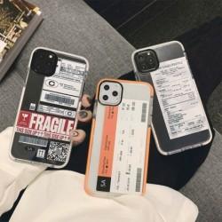 Vicces utazási városi repülőjegy telefon tok iPhone 11 Pro Max XR X XS Max iphone SE 7 8 és hátlaphoz, szilikon puha tokok