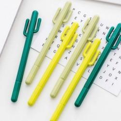 Koreai stílusú aranyos kaktusz gél tollal aláíró toll 0,5 mmes fekete tintával írószer ajándék iskolai irodai