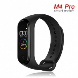 M4 Pro Smart Band hőmérő pulzus vérnyomásmérő intelligens óra Fitness karkötő Android IOShoz
