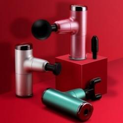 Mini Fascial masszázsfegyver hordozható USB töltés Kézi masszírozó Alumínium ötvözet TypcC újratölthető
