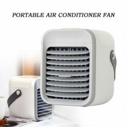 Mini személyi légkondicionáló, hordozható váltóáramú légtisztító, 3 sebességes, 7 LEDes lámpa, hűtő asztali