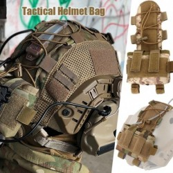 MK2 sisak Éjjellátó védőszemüveg elemtartó tok Nylon FAST taktikai sisak ellensúly táska lövöldözéshez Kerékpáros