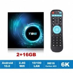 Új T95 TV Box Android 10.0 Allwinner H616 négymagos 1080P H.265 6K TVBOX set top box 2 GB 16 GB