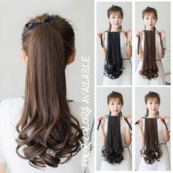Lófarok paróka paróka haj körte virág tekercs természetes hamis hamis hajcsipesz göndör hosszú szintetikus frizura