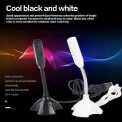 Univerzális USB mikrofon Mini asztali beszédmikrofon állvány mikrofon tartóval asztali PChez