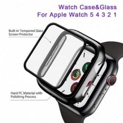 Óratok   edzett üveg az Apple Watch  5 4 3 2 1 iWatch tok 42mm 38mm 44mm 40mm iWatch képernyővédő fólia