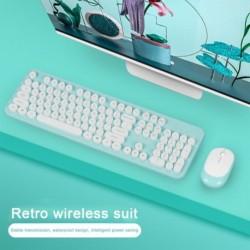 Vezeték nélküli billentyűzet egér készlet mini kerek gombos játékbillentyűzet MacBook Lenovo Dell Asus hordozható