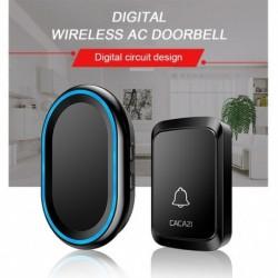 Vezeték nélküli vízálló csengő intelligens csengő US EU UK Plug LED Flash Home