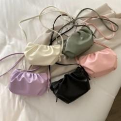 Női alkalmi puha felhőtáska PU bőr divatos rakott mini válltáska kézitáska