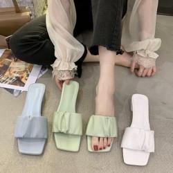 Női divat PU vastag alsó papucs női Pu egyszemű cipő