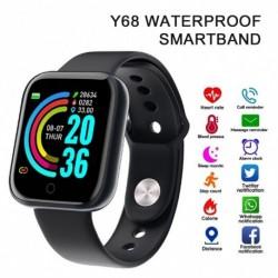 Y68 intelligens karóra vérnyomás pulzus okos karszalag fitnesz tracker sport okosóra férfi nők 1,3 hüvelykes intelligens