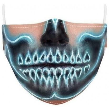 Design-4 - Férfi újrafelhasználható unisex vicces mosható arcmaszk fél arc száj Mark HipHop rajzfilm