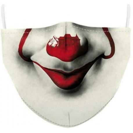 Design-94 - Férfi újrafelhasználható unisex vicces mosható arcmaszk fél arc száj Mark HipHop rajzfilm