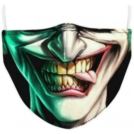 Design-6 - Férfi újrafelhasználható unisex vicces mosható arcmaszk fél arc száj Mark HipHop rajzfilm