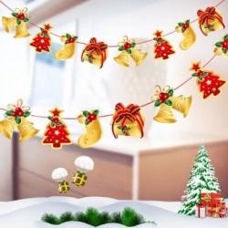 Zokni - Több stílusú karácsonyi függő banner karácsonyi party Mikulás jávorszarvas zokni dekoráció 2020